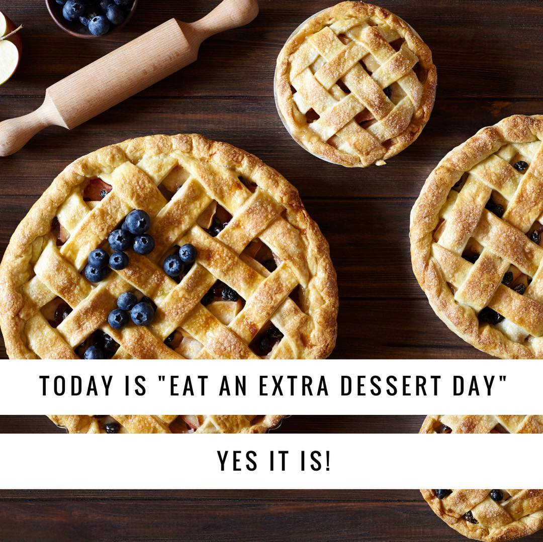May I suggest pie? extradessertday extrapie haveanotherpiece dontstopatone pieforeveryone